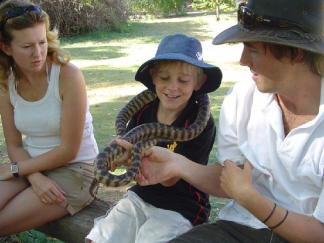 Meet the friendly wildlife at Greenough Wildlife Park.  Admission included in price of tour.